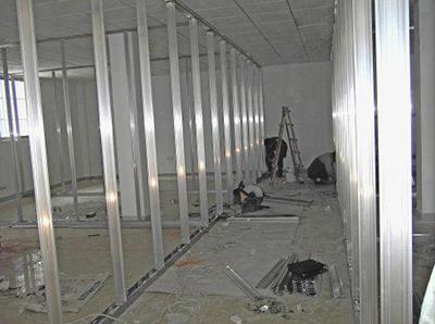 咸阳阳光大厦办公室玻璃隔断安装工程