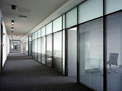 写字楼双玻百叶玻璃隔断