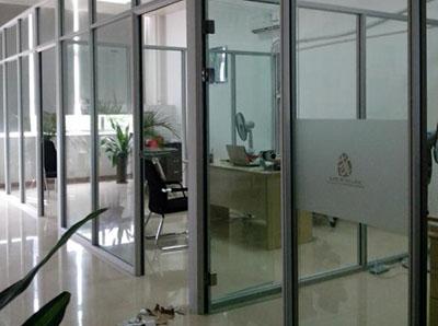 铝合金双层玻璃隔断